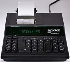 (1) Monroe 2020PlusX 12-Digit Medium-Duty Color Printing Calculator in Black photo