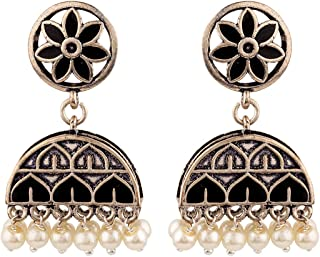 Voylla Jhumki Earrings for Women (Silver)(8907617887708)