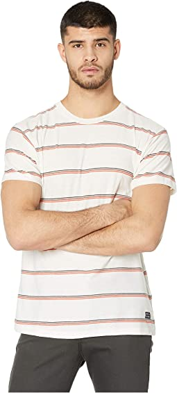 Die Cut Stripe Short Sleeve Crew