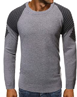 Behkiuoda Men Autumn Winter Sweater Knitted Warm Jumper Top Coat Causal Pullover Outwear