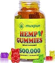 Hēmp Gummiēs 500,000 MUXPUN Organic Hēmp Gummy Bears for Pain and Anxiety,Reduce Stress,Inflammation Relief,Promotes Sleep...