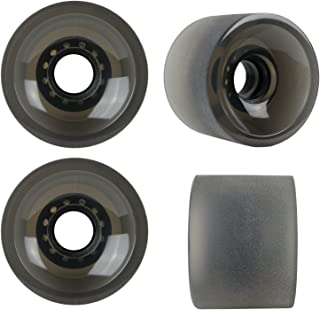 TGM Skateboards Sliding Longboard Wheels 70mm 82A Stone Ground Set of 4 Black
