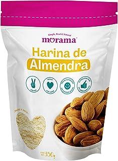 Morama Harina de almendra vegana ideal para dietas KETO y paleo, alta en vitamina E, Almendra, 350 gramos