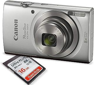 Canon PowerShot ELPH 180 Digital Camera (Silver) + 16GB...