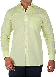 Relish Shirts Casual Green Slim Fit Shirt Men's Casual | Green Slim | 38 Size| Full Sleeves|