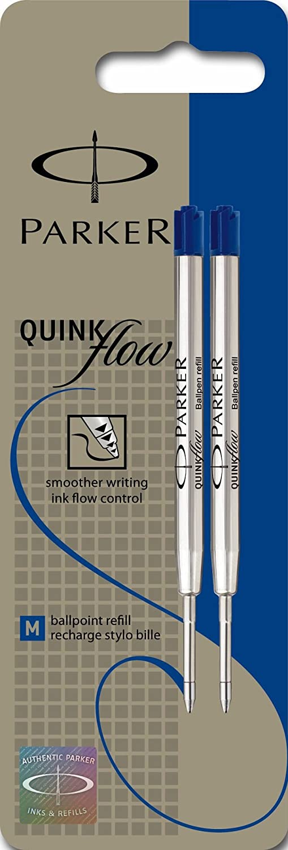 Parker Quinkflow - Recambio para bolígrafo de punta de bola (tamaño mediano), color azul