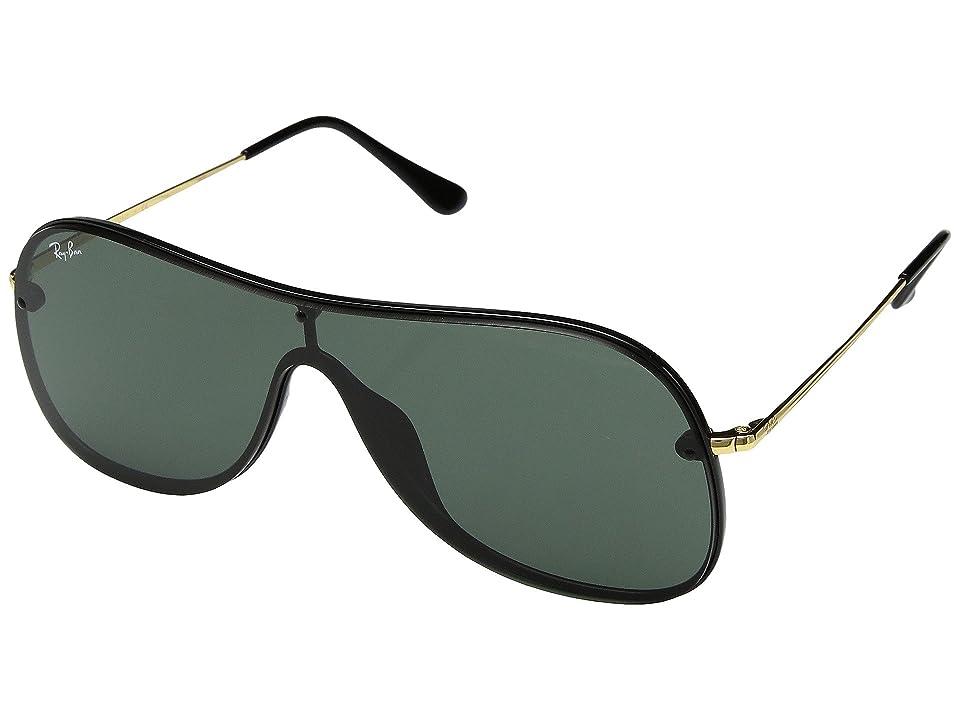 Ray-Ban 0RB4311N 38mm (Black/Green) Fashion Sunglasses