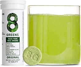 Sponsored Ad - 8Greens Immunity and Energy Effervescent Tablets - Packed with 8 Powerful Super Greens (3 Tubes / 30 Tablets)