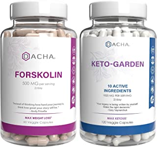 Advanced Keto & Weight Loss Bundle - Premium Forskolin Extract Plus Ketogarden, with 11 Natural Herbs for Max Slim Look, U...