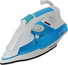 Geepas 2400W Steam Iron – 2 in 1 Dry & Steam Iron for Crisp Ironed Clothes   5 Modes Temperature Control, Non-Stick Solepl...