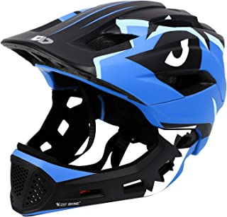 WESTGIRL Kids Bike Helmet 3-15 Years, CE Certified Breathable Ultralight Adjustable Cycling Helmet Toddler for Bicycle, Skateboard, Scooter, Rollerblading, Children Protective Gear (20-22 Inches)