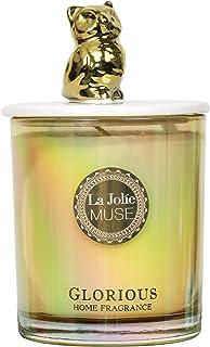 La Jolíe Muse Vela aromatica - Vela decorativa, vela soja, vela aromatica grande, regalos para casa, Guisante dulce y lirio