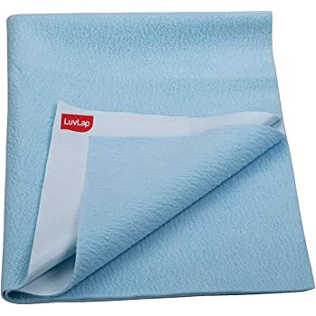 LuvLap Instadry Extra Absorbent Dry Sheet/Bed Protector - Sky Blue, 0m+ - Small 50 x 70cm