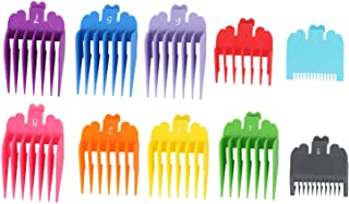 "Harapu 10 Pcs Colorful Professional Hair Clipper Combs Guides 1/16"" to 1"",Attachment Guide Combs Replacement Guards Set for Wahl Clippers/Trimmers"