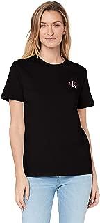 Calvin Klein Jeans Women's Monogram Embroidery Straight T Shirt
