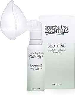 Breathe Free Essentials - Soothing Personal Aromatherapy Diffuser Kit, 100% Natural Essential Oils Blend of Menthol, Eucalyptus, and Tea Tree Oils to Soothe The Body and Mind