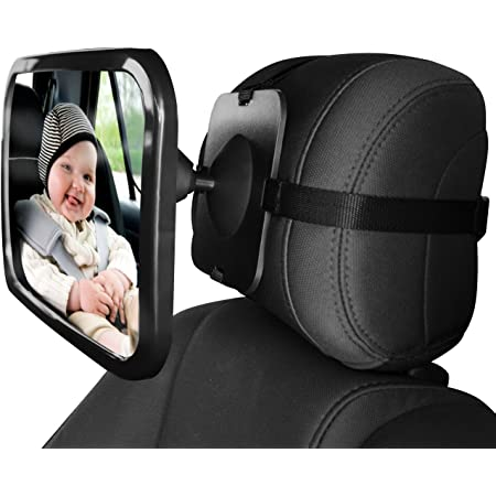 Car Rear Seat Mirror Home Neat Baby Mirror Easy View Rear View Mirror For Baby Seats Rotatable Mirror Size 245 X 175 Mm Black Auto