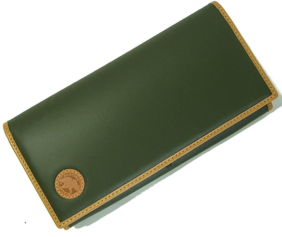 抗議カルシウム男性[ハンティングワールド] 長財布 メンズ BATTUE ORIGIN 二つ折 グリーン 420-10A HW-408F [並行輸入品]