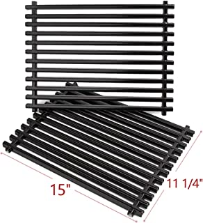 SHINESTAR 65904 Grill Grates Parts for Weber Spirit E210, Genesis Silver A, Spirit 500, 15inches Porcelain Enameled Cooking Grates Replacement for Weber 65904(15 x 11 1/4 Each, 2pcs)