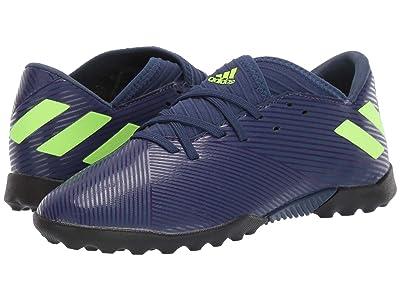 adidas Kids Nemeziz Messi 19.3 TF Soccer (Little Kid/Big Kid) (Tech Indigo/Signal Green/Glory Purple) Kid
