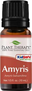 Plant Therapy Amyris Essential Oil 10 mL (1/3 oz) 100% Pure, Undiluted, Therapeutic Grade