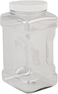 Hudson Exchange 1 Gallon Plastic Grip Jar with Cap, PET, 4 Pack