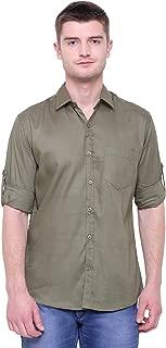 BLUEPOCKET Casual Slim Fit Shirt for Men Black