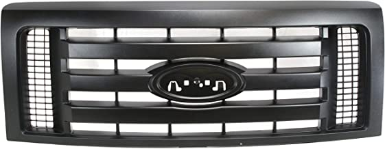 Grille Assembly Compatible with FORD F-150 2009-2012 Textured Dark Gray XL Model