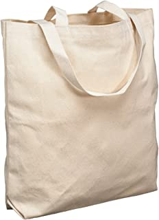 School Smart Canvas Large Washable Tote Bag, 16-3/4 X 17-1/2 X 5 in, Natural