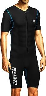 FitsT4 مردان سونا لباس سونا MMA Neoprene پیراهن عرق لاغری کاهش وزن سریع لاغری شکل دهنده بدن برای تمرین ورزش بدن سازی