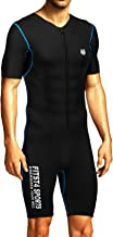 FitsT4 Men's Sauna Suit MMA Neoprene Sweat Shirt Quick Weight Loss Slimming Body Shaper for Fitness Gym Exercise Training