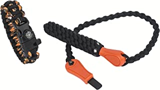 Emergency Fire Starter Kit Magnesium Rod Camping Survival Tool Paracord Bracelet With Compass And Whistle