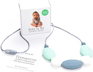 Bebe by Me `Cosmopolitan` Hard + Soft + Cushy Beads All-in-1 Teething Necklace for Nursing Moms