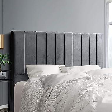 Artiss King Size Fabric Bed Headboard - Grey