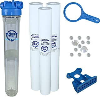 Tankless Water Heater Filter, KleenWater KW2520SCALEX-3 Tankless Hot Water Filter System, Polyphosphate Filter for Scale Prevention