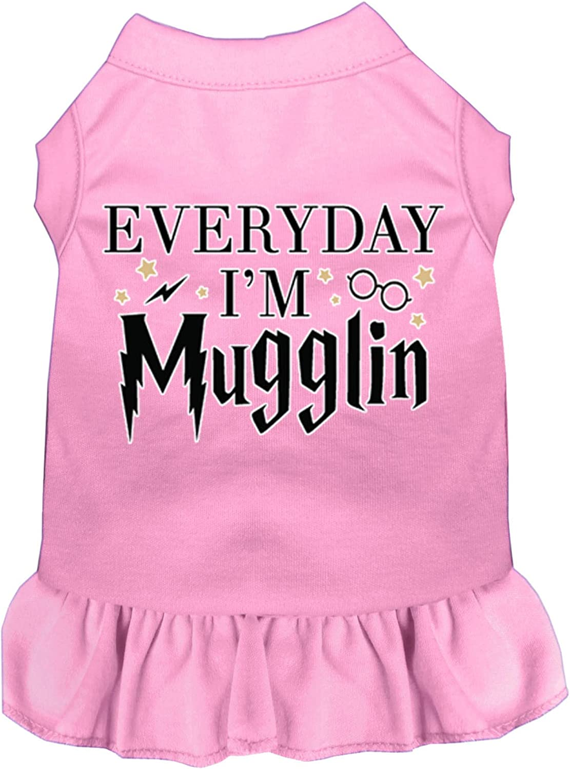 Mirage Pet 5 ☆ very popular Credence Product Everyday I'm Mugglin Dog Print Screen Dress L