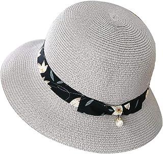 WN - Sombrero - Sombrero de Paja de Verano para Mujer Visera para el Sol Sombrero para la Playa de Viaje Anti-UV Plegable Sombrero para el Sol (3 Colores) Sombrero para Mujer (Color : #3)
