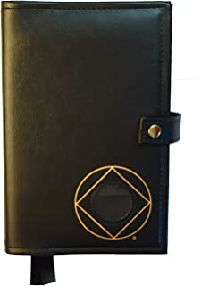 Culver Enterprises Double Narcotics Anonymous NA Basic Text & It Works, How & Why Book Cover Medallion Holder Black