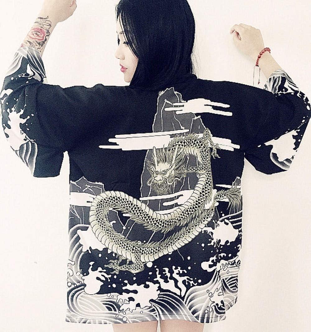 Derni/ères /Ét/é Mode Femme Cor/éenne Japonaise Kimono Haori Gilet Veste Manteau Mince Cr/ème Solaire Yukata Tenues Orientales Zzzb Color : Color1, Size : One Size