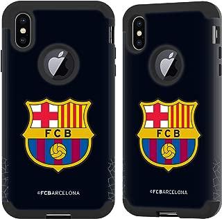 Official FC Barcelona Goalkeeper Black 2017/18 Crest Kit Black Guardian Case Compatible for iPhone Xs Max