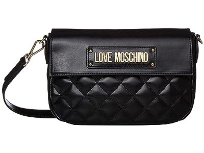 LOVE Moschino Shinny Quilted Bag (Black) Handbags