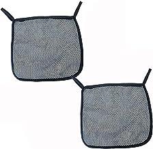 Bolsa de malla para cochecito de bebé, 2 bolsas de almacenamiento para colgar en la parte trasera de poliéster negro