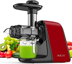 Juicer Machines, NXONE Slow Masticating Juicer, Cold Press Juicer Extractor with High Hardness Tritan Not Break, Superior ...