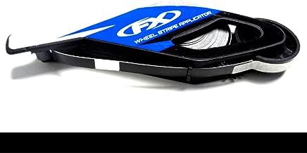 CaliBikerClub Reflective Black Rim Tape Wheel Stripes w/Easy Applicator for 16