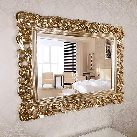 Specchio Da Parete Decorativo Rettangolare Grande Specchio Barocco Ornato Oro Antico Usato Nell Hotel Da Camera Da Letto Del Soggiorno Intagliato A Mano 37 7 Pollici 50 Pollici Amazon It Casa E Cucina