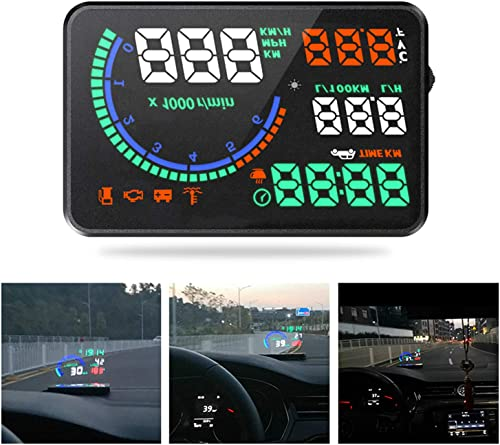 discount Mallofusa Car HUD Display,5.5 Inch Screen L8 OBD2 HUD Head Up Display,Windshield Projector with 2021 Film Speed KM/H MPH Mileage Digital Speedometer for All Cars with OBDII Or EU lowest OBD Standard online sale