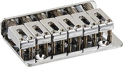 Electric Guitar Hard Tail Bridge Saddle for 6 String Guitar Chrome