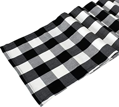 Ruck Table Runner Buffalo Plaid, Cotton-Polyester Fall Table Runners for Farmhouse Christmas, Thanksgiving, Party Decorations