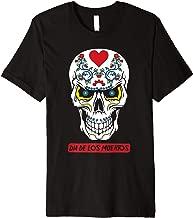 Sugar Skull Flowers Dia De Los Muertos Calavera Pun   Premium T-Shirt