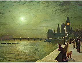 Wee Blue Coo John Atkinson Grimshaw Reflections On Thames 1880 Unframed Wall Art Print Poster Home Decor Premium